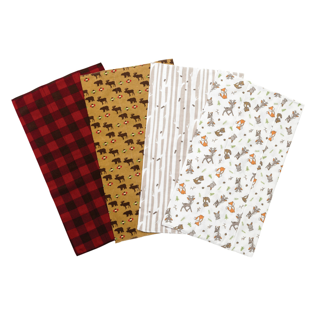 Northwoods 4 Pack Flannel Burp Cloth Set Trend Lab, LLC