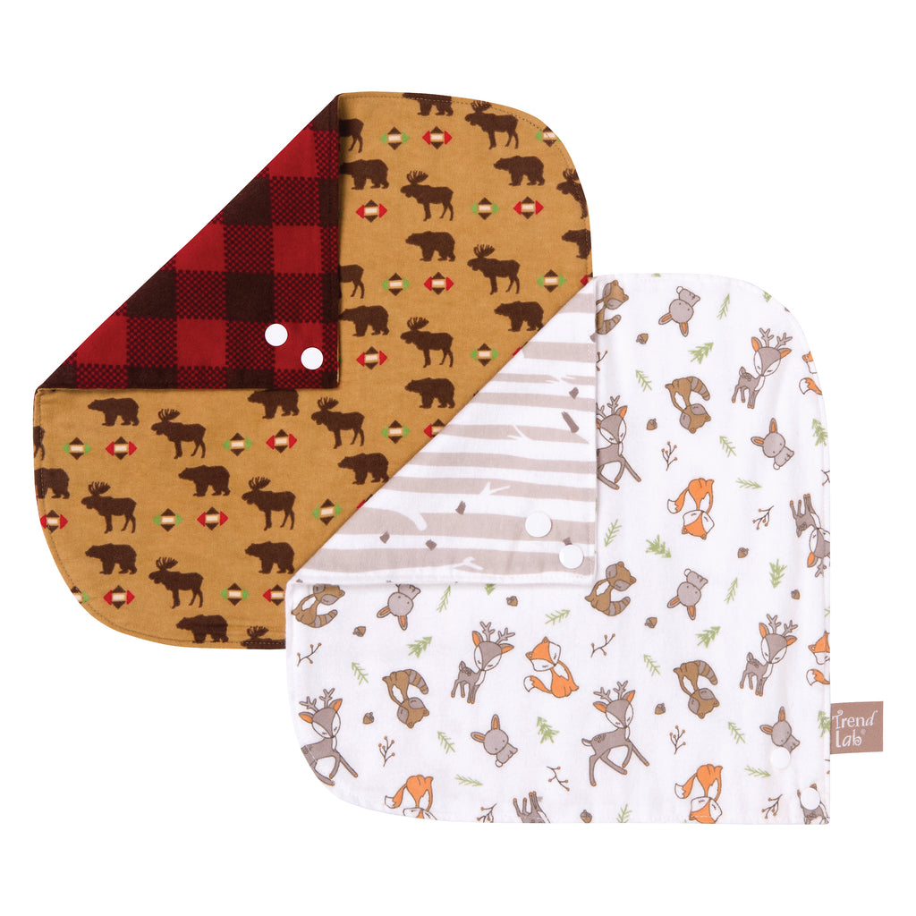Northwoods 2 Pack Reversible Flannel Bandana Bib Set Trend Lab, LLC