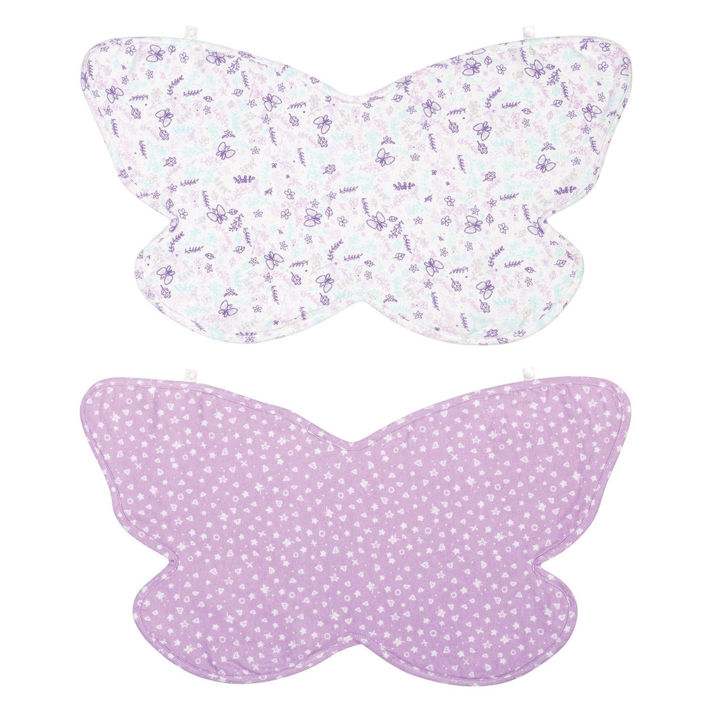 2 Pack Butterfly Shaped 100% Cotton Multi-Use Bib Burp Cloth102952$12.99Trend Lab