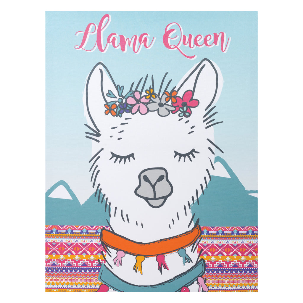 Llama Queen Canvas Wall Art Trend Lab, LLC