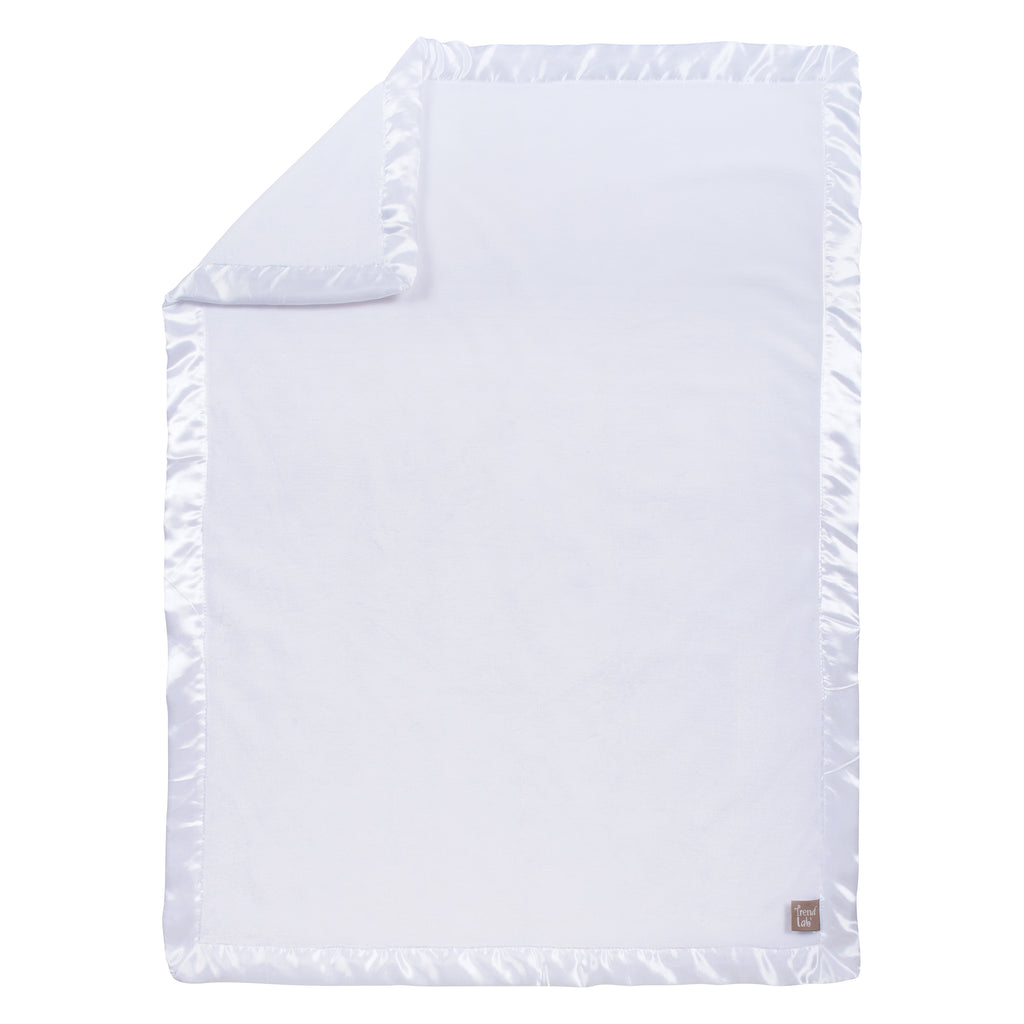 White Plush Baby Blanket Bedding And Accessories Trend Lab