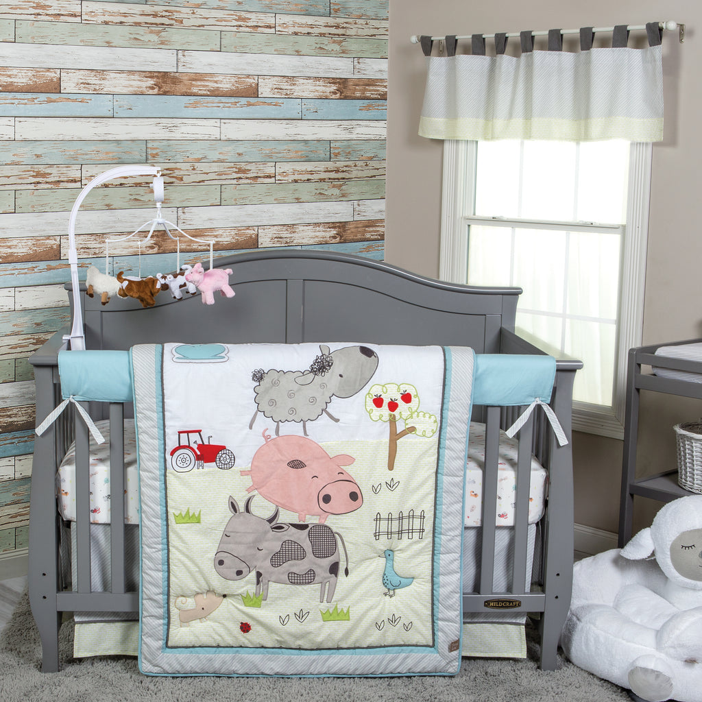 Farm Stack 4 Piece Crib Bedding Set Trend Lab, LLC