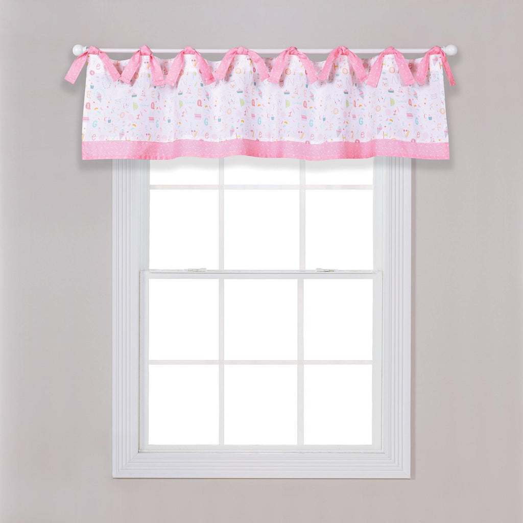 Alphabet Cake Window Valance