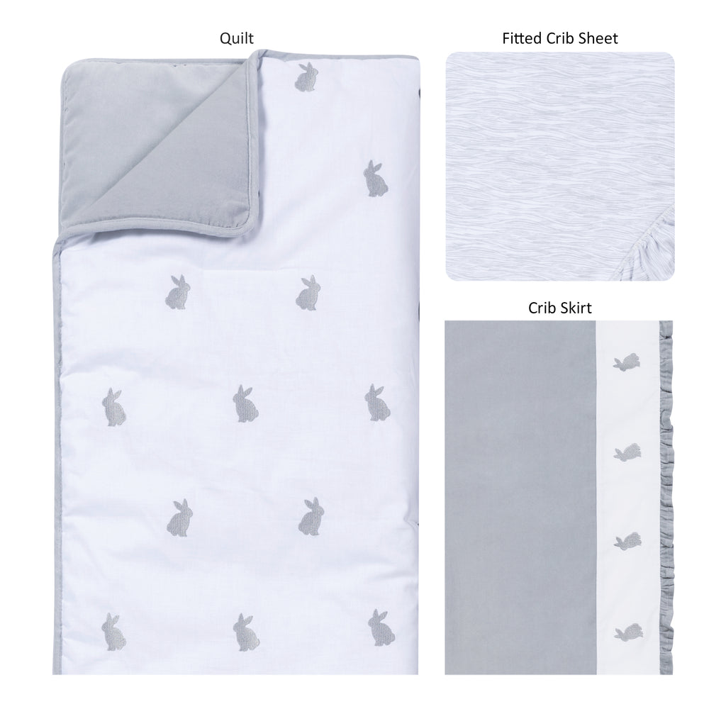Bunnies 3 Piece Crib Bedding Set103047$99.99Trend Lab