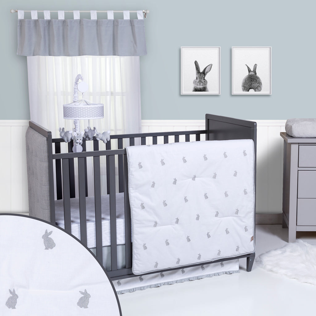 Bunnies 3 Piece Crib Bedding Set Trend Lab, LLC