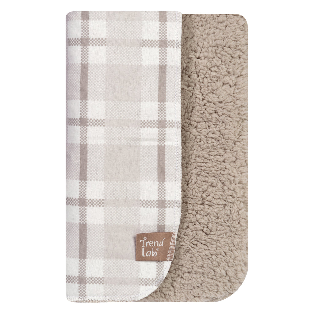 Gray and White Plaid Flannel and Faux Shearling Blanket103066$19.99Trend Lab