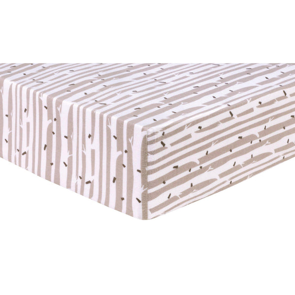 Birch Stripe Deluxe Flannel Fitted Crib Sheet Trend Lab Llc