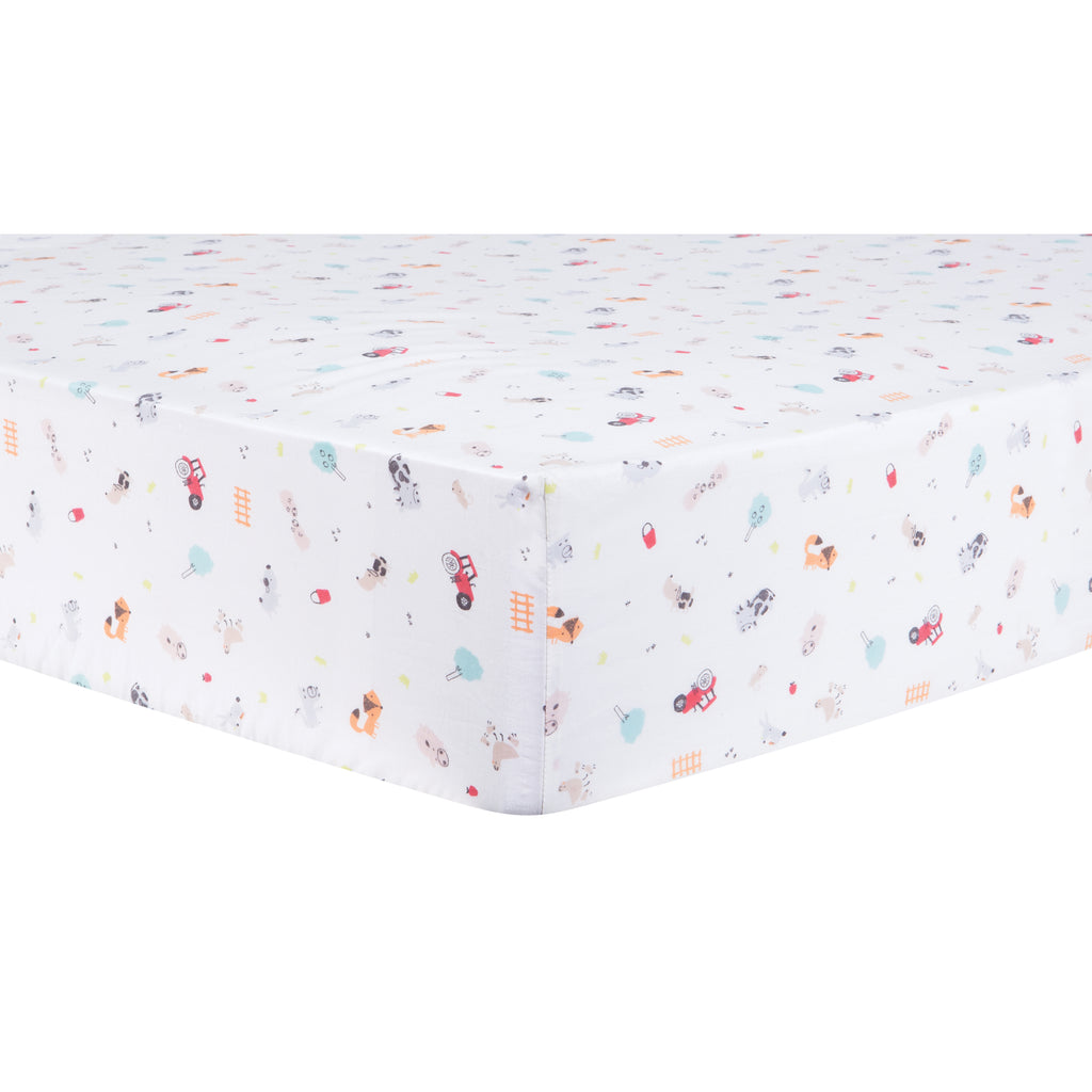 Farm Stack Fitted Crib Sheet Trend Lab, LLC