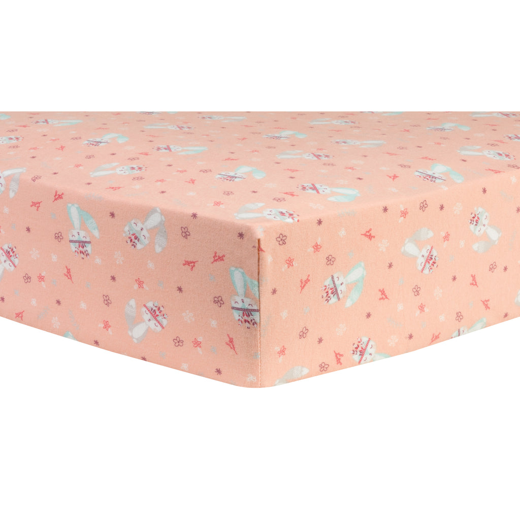 Fox and Flowers Deluxe Flannel Fitted Crib Sheet Trend Lab, LLC
