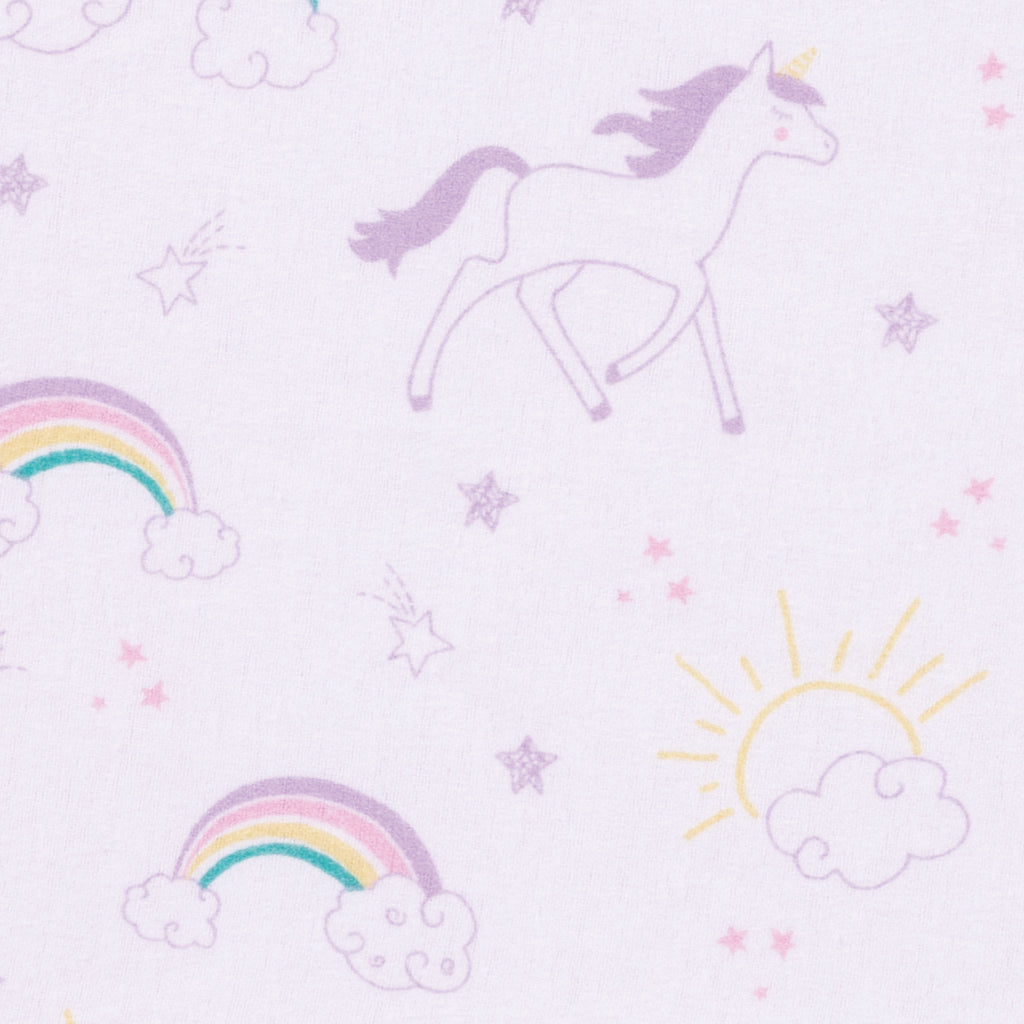 Unicorn Rainbow Deluxe Flannel Fitted Crib Sheet103167$17.99Trend Lab