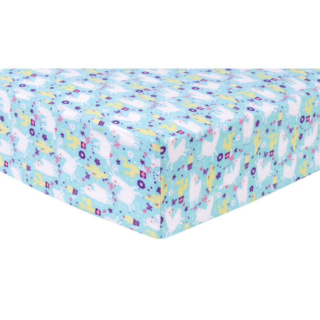 Llama Paradise Deluxe Flannel Fitted Crib Sheet Trend Lab, LLC