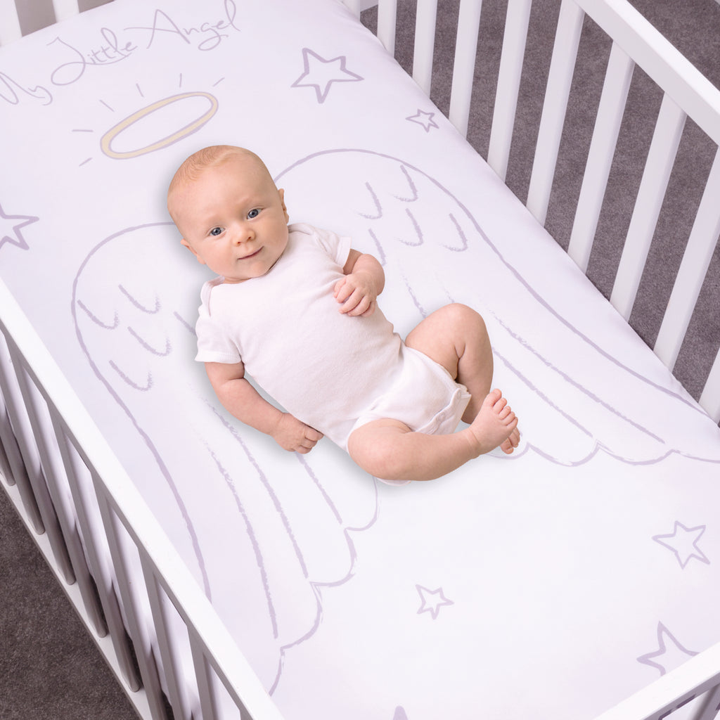 My Tiny Moments™ Angel Flannel Photo Op Fitted Crib Sheet103171$19.99Trend Lab