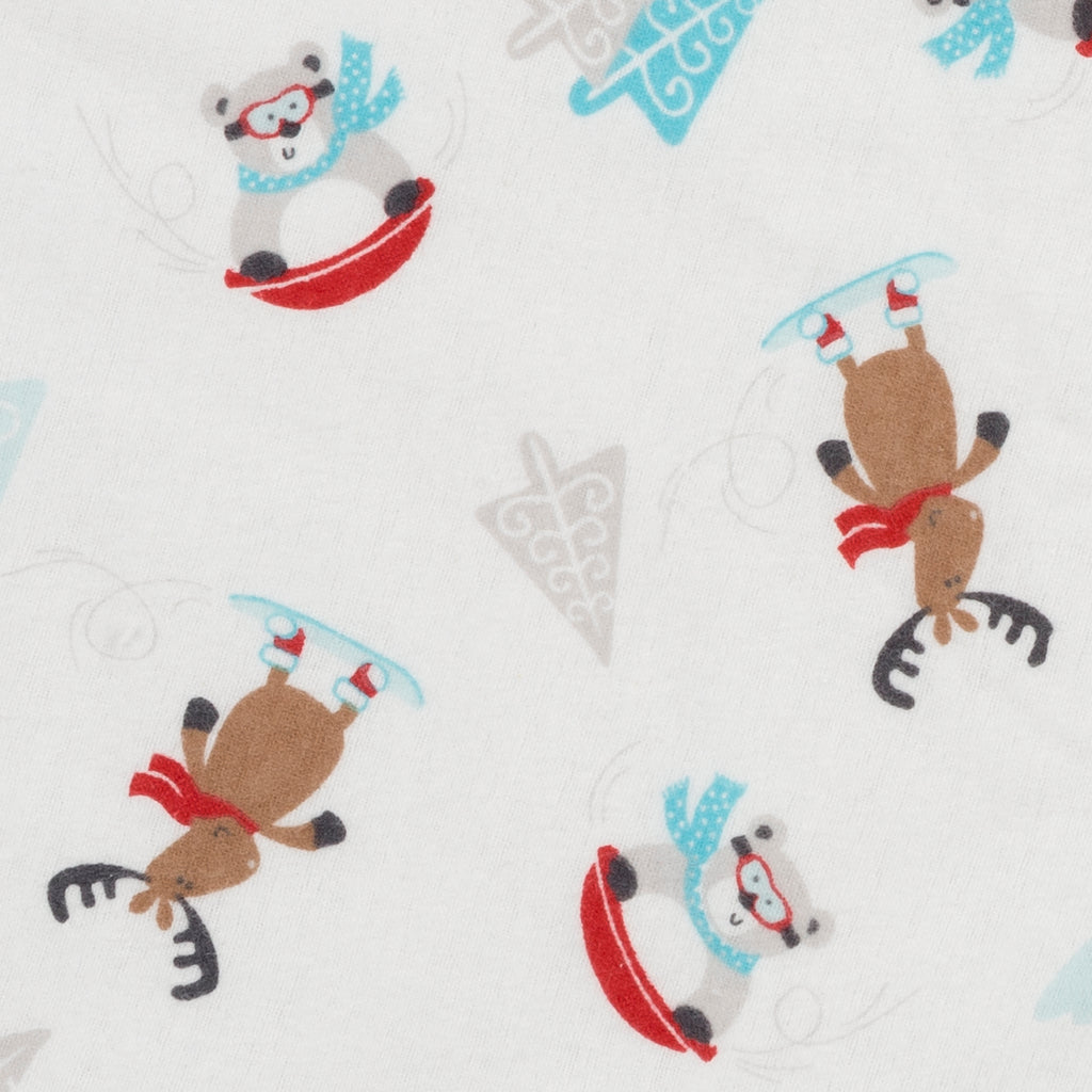 Frosty Fun Deluxe Flannel Fitted Crib Sheet Trend Lab, LLC