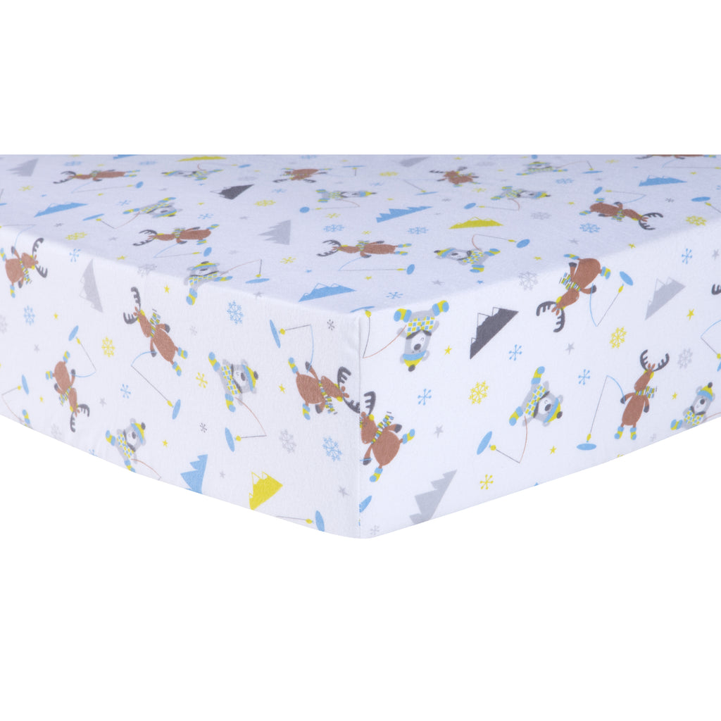 Gone Ice Fishing Deluxe Flannel Fitted Crib Sheet Trend Lab, LLC