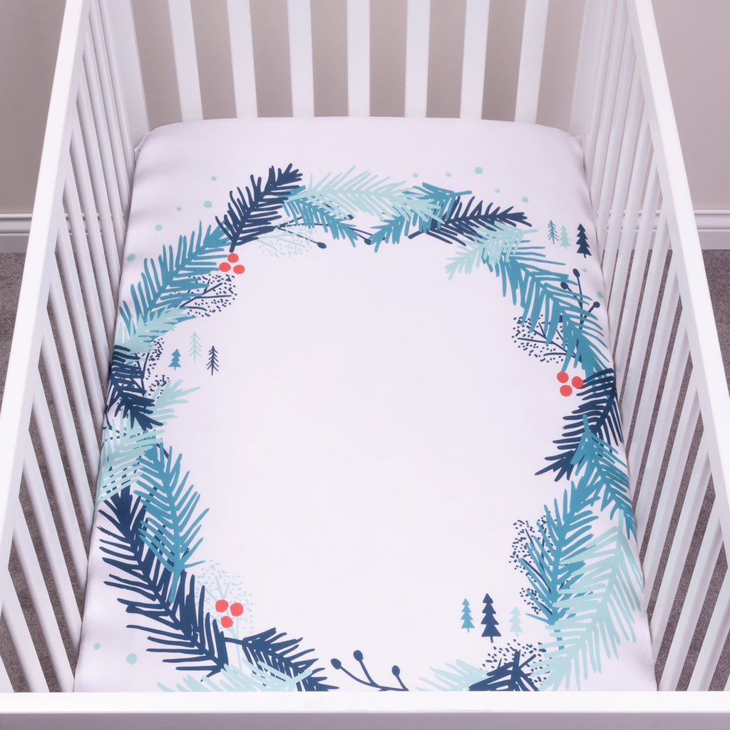 My Tiny Moments™ Spruce Wreath Flannel Photo Op Fitted Crib Sheet103178$19.99Trend Lab