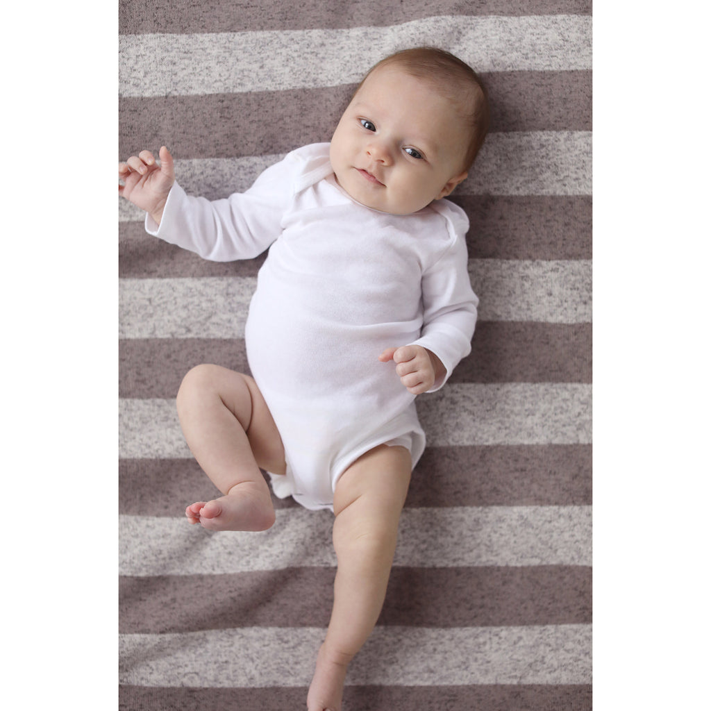 Rugby Stripe Sweatshirt Knit Baby Blanket Trend Lab, LLC