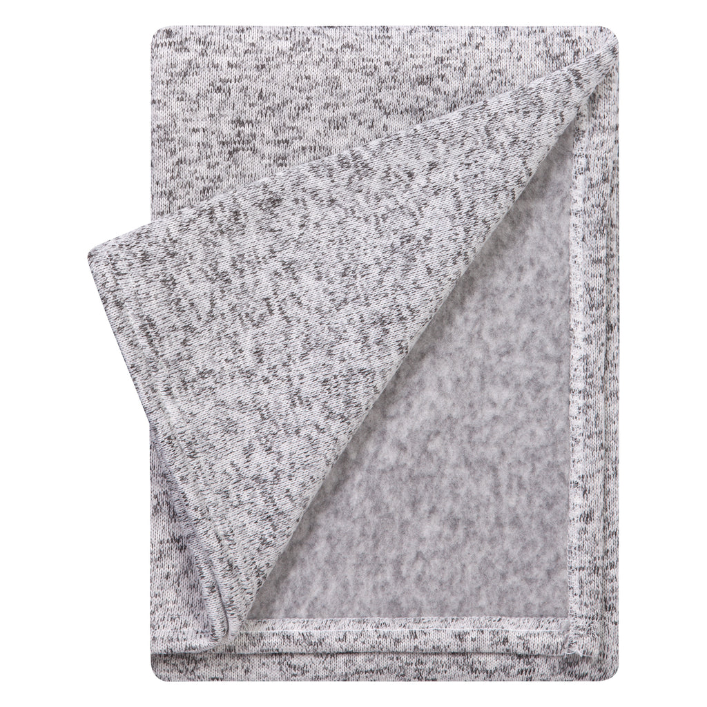 Heathered Gray Sweatshirt Knit Baby Blanket Trend Lab, LLC