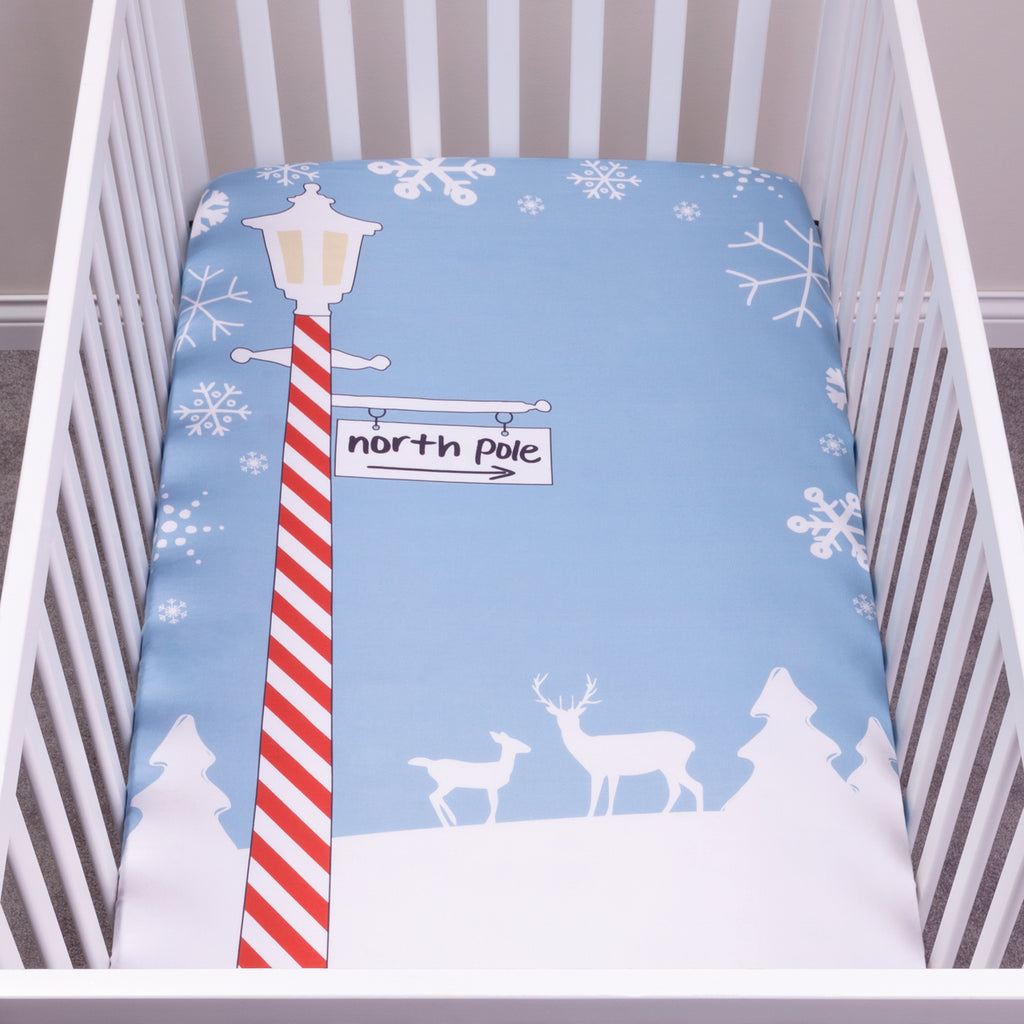 My Tiny Moments™ North Pole Flannel Photo Op Fitted Crib Sheet Trend Lab, LLC