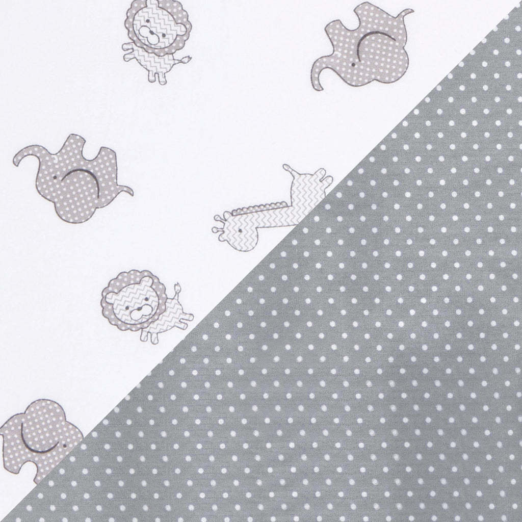 Gray Safari and Dot 2 Pack Fitted Crib Sheets103194$32.99Trend Lab