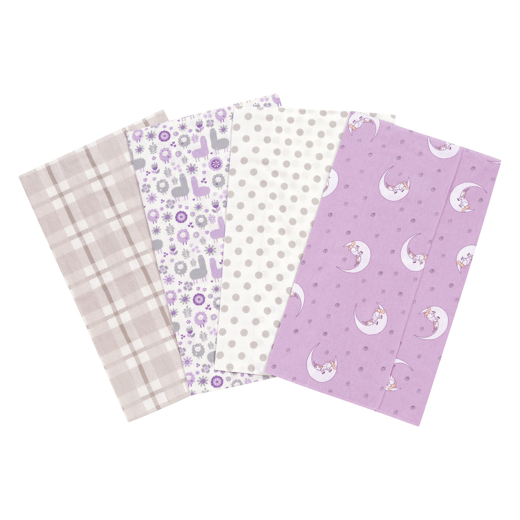 Llamas and Unicorns 4 Pack Flannel Burp Cloth Set103199$12.99Trend Lab