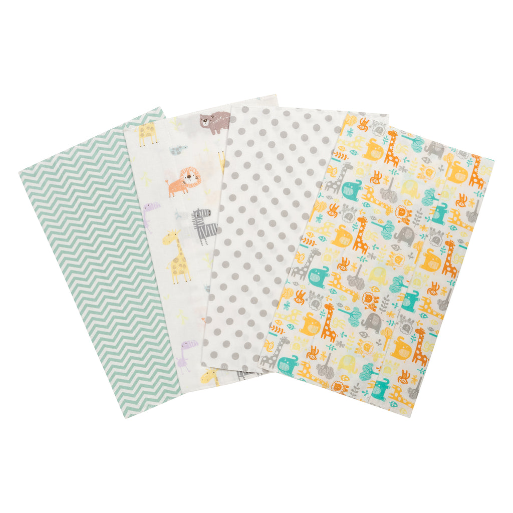 Mint Jungle 4 Pack Flannel Burp Cloth Set103200$12.99Trend Lab