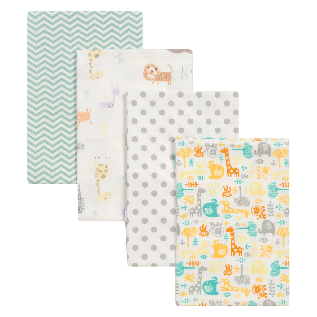 Mint Jungle 4 Pack Flannel Blankets103208$14.99Trend Lab