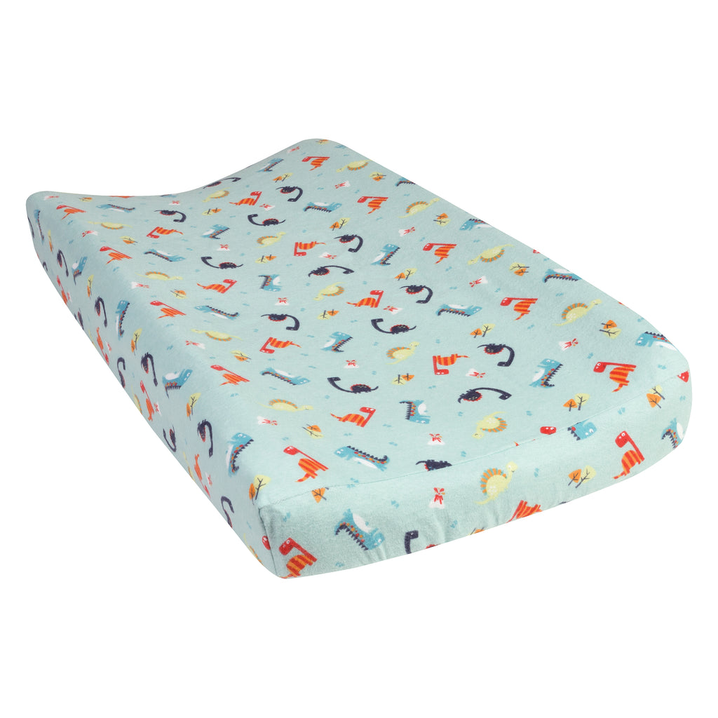 Dinosaurs Deluxe Flannel Changing Pad Cover Trend Lab, LLC