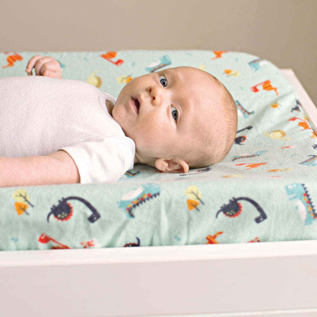 Dinosaurs Deluxe Flannel Changing Pad Cover103216$14.99Trend Lab
