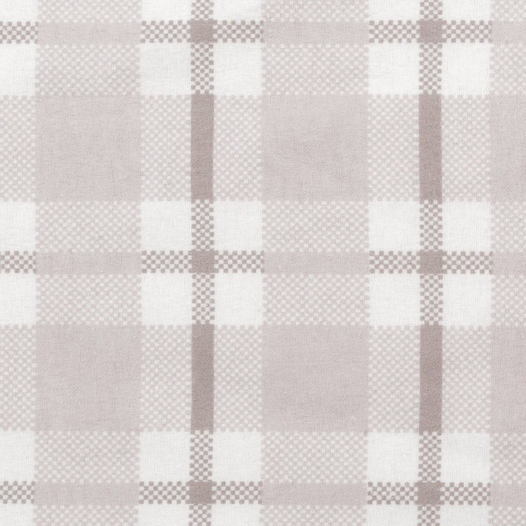 Gray and White Plaid Deluxe Flannel Changing Pad Cover