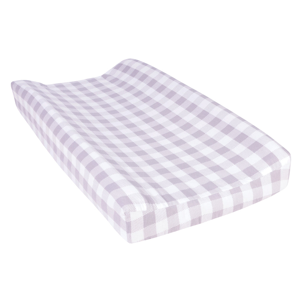 Gray and White Buffalo Check Flannel Changing Pad Cover Trend Lab, LLC