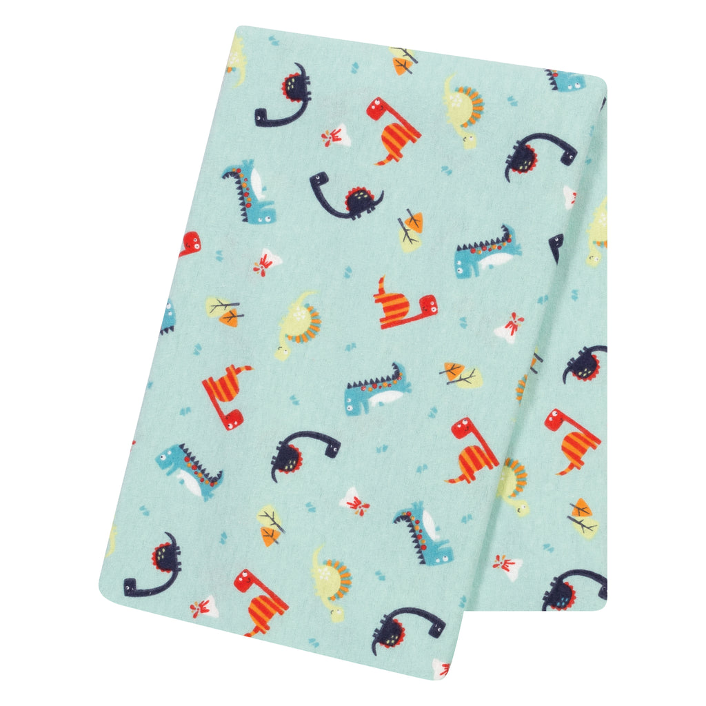 Dinosaurs Jumbo Deluxe Flannel Swaddle Blanket Trend Lab, LLC