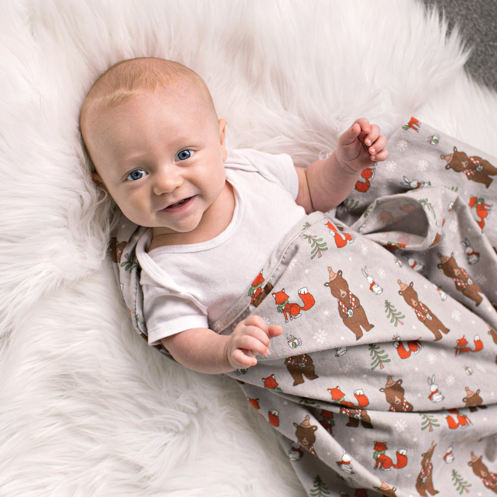 Cup of Cocoa Jumbo Deluxe Flannel Swaddle Blanket Trend Lab, LLC