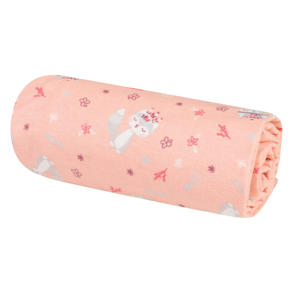Fox and Flowers Jumbo Deluxe Flannel Swaddle Blanket103228$12.99Trend Lab