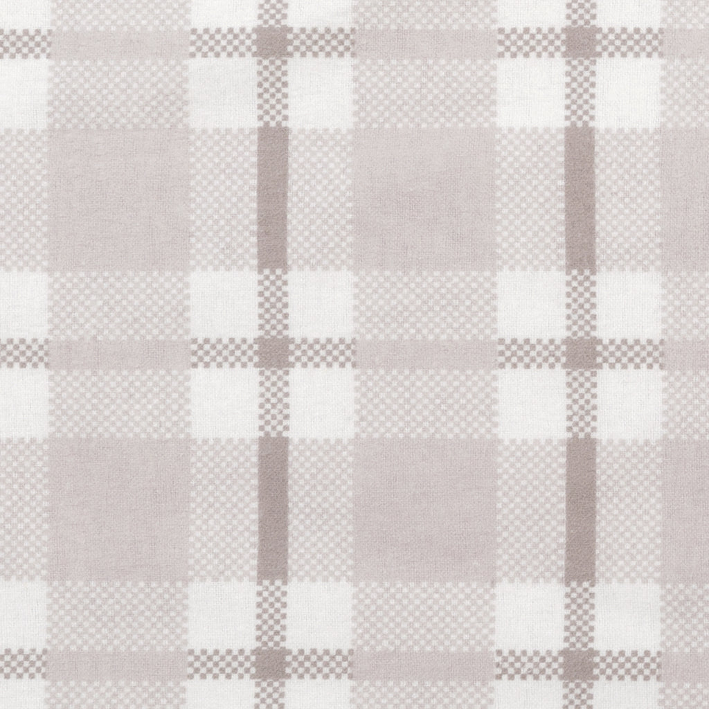 Gray and White Plaid Jumbo Deluxe Flannel Swaddle Blanket Trend Lab, LLC
