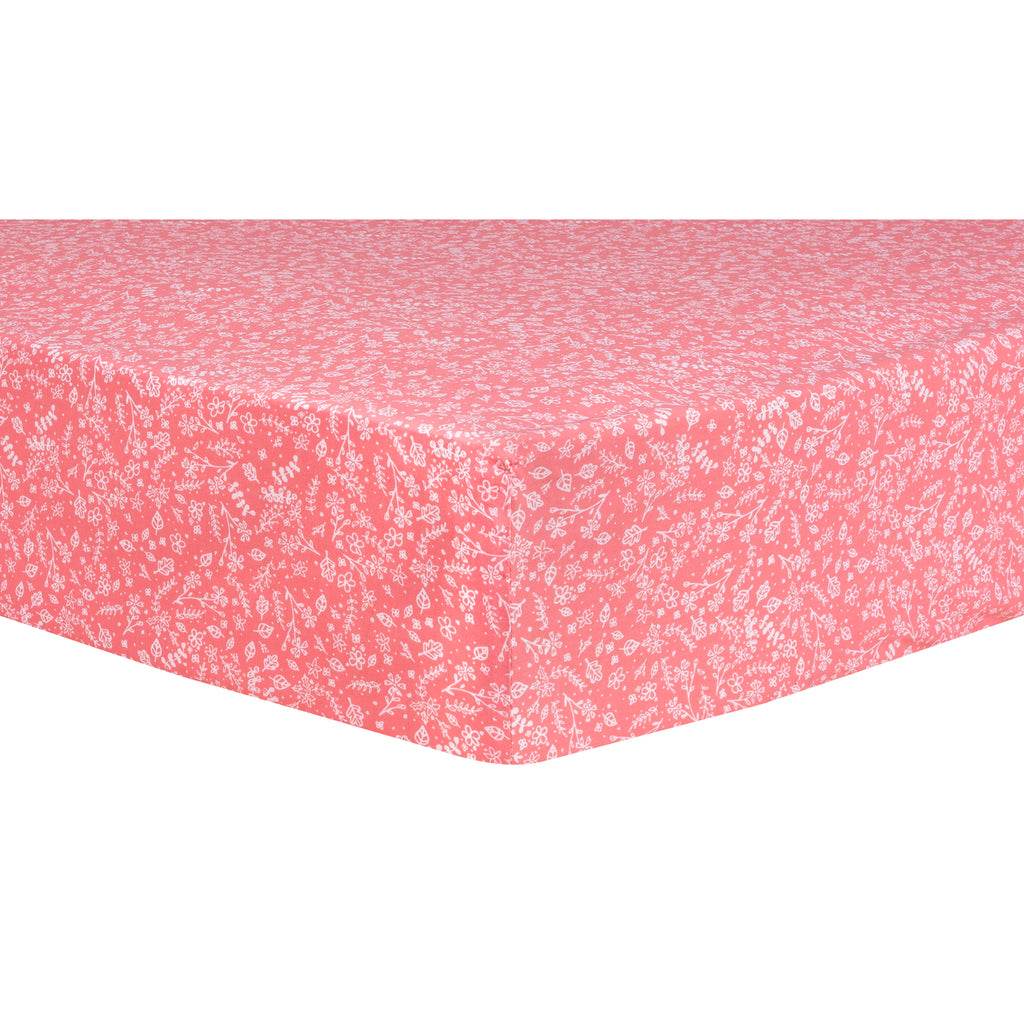 Pink Prairie Fitted Crib Sheet Trend Lab, LLC