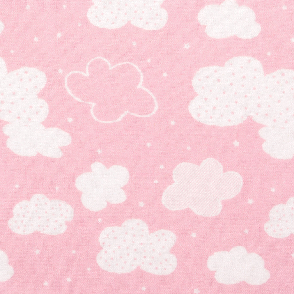 Pink Clouds Deluxe Flannel Fitted Crib Sheet103262$17.99Trend Lab