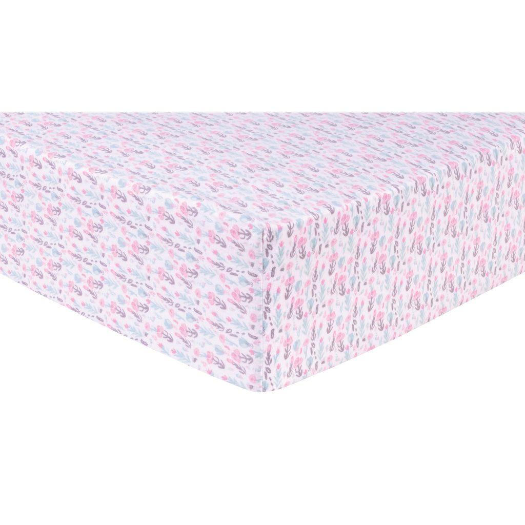 Pastel Painterly Floral Deluxe Flannel Fitted Crib Sheet103263$17.99Trend Lab