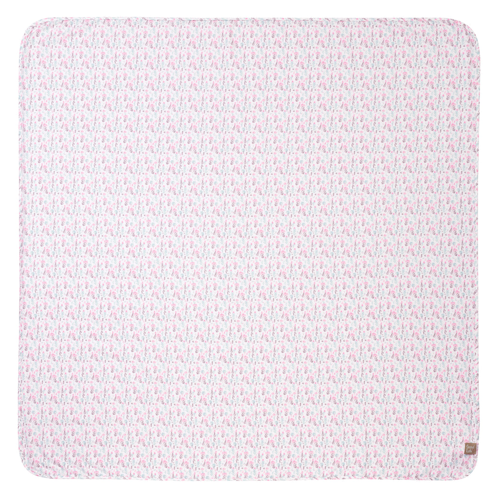 Pastel Painterly Floral Jumbo Deluxe Flannel Swaddle Blanket