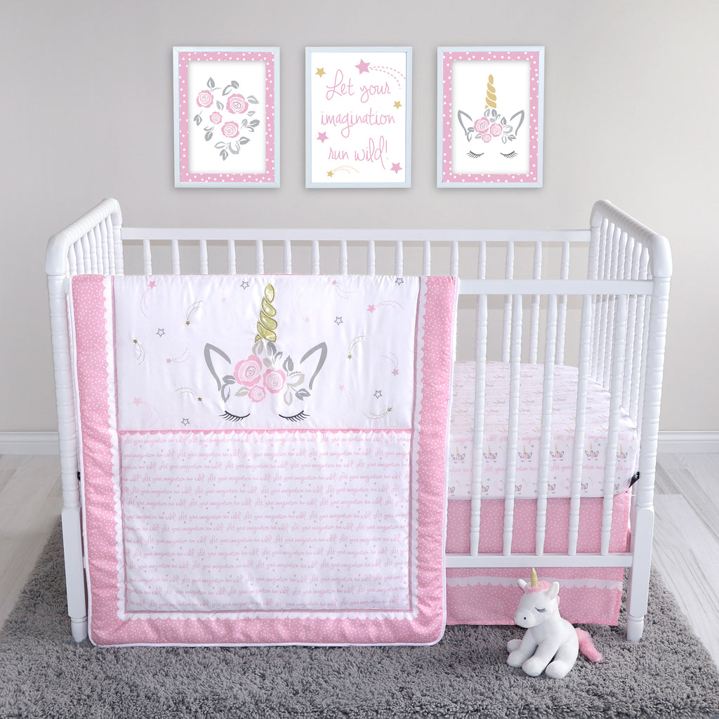 Sammy and Lou Sweet Mystical Dreams 4 Piece Crib Bedding Set