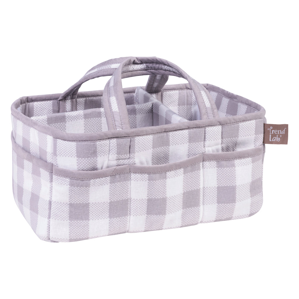 Gray and White Buffalo Check Storage Caddy Trend Lab, LLC