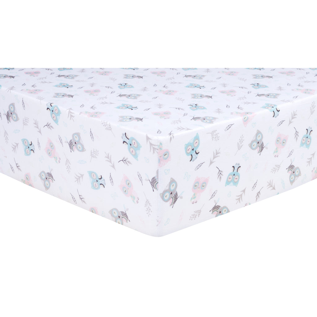 Feathered Friends Jersey Fitted Crib Sheet Trend Lab, LLC
