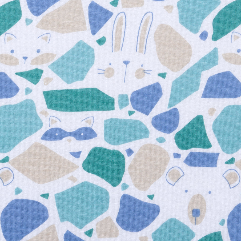 Terrazzo Forest Jersey Fitted Crib Sheet Trend Lab, LLC