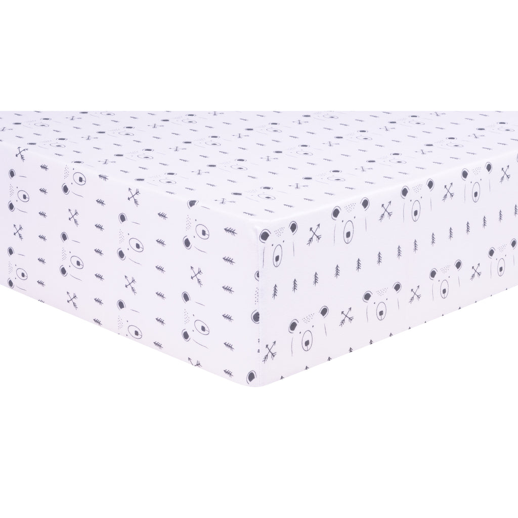 Peak-a-Bear Jersey Fitted Crib Sheet