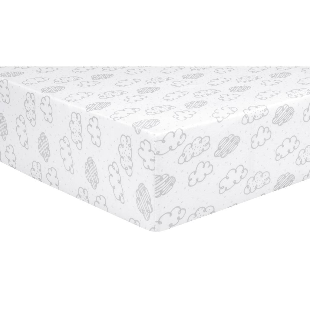 Clouds Jersey Fitted Crib Sheet Trend Lab, LLC