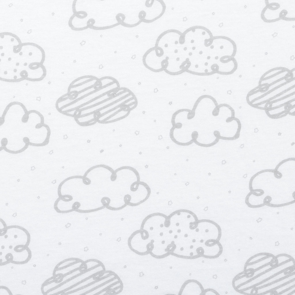 Clouds Jersey Fitted Crib Sheet
