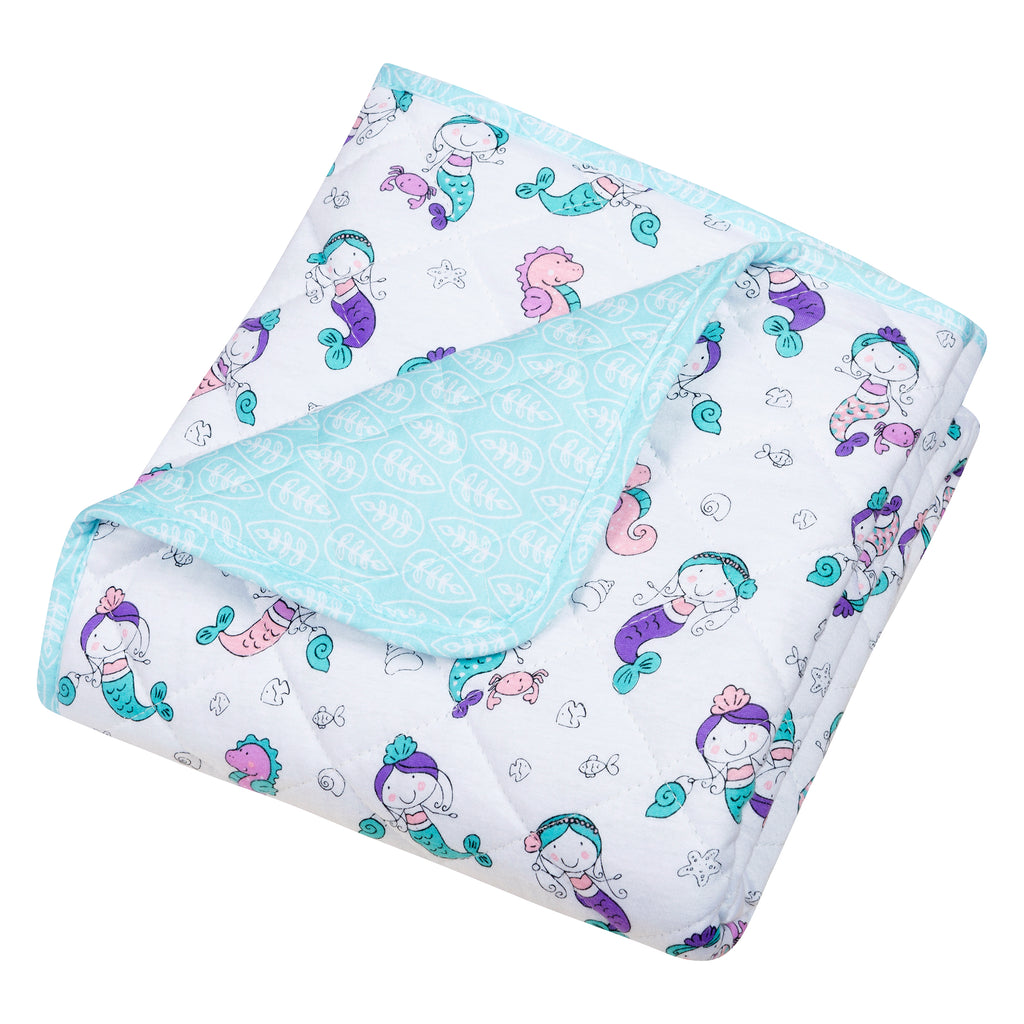 Mermaids Reversible Jersey Crib Quilt Trend Lab, LLC