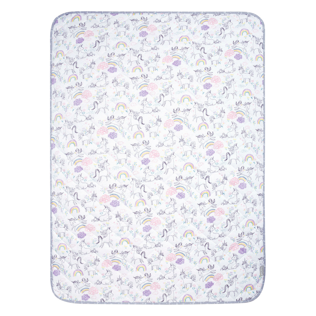 Playful Unicorns Reversible Jersey Crib Quilt Trend Lab, LLC