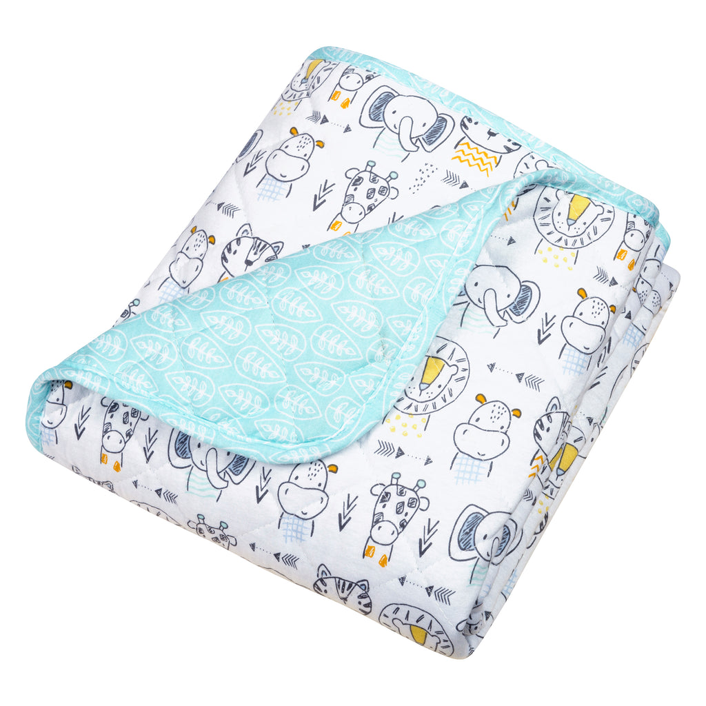 Safari Yearbook Reversible Jersey Crib Quilt103350$21.99Trend Lab