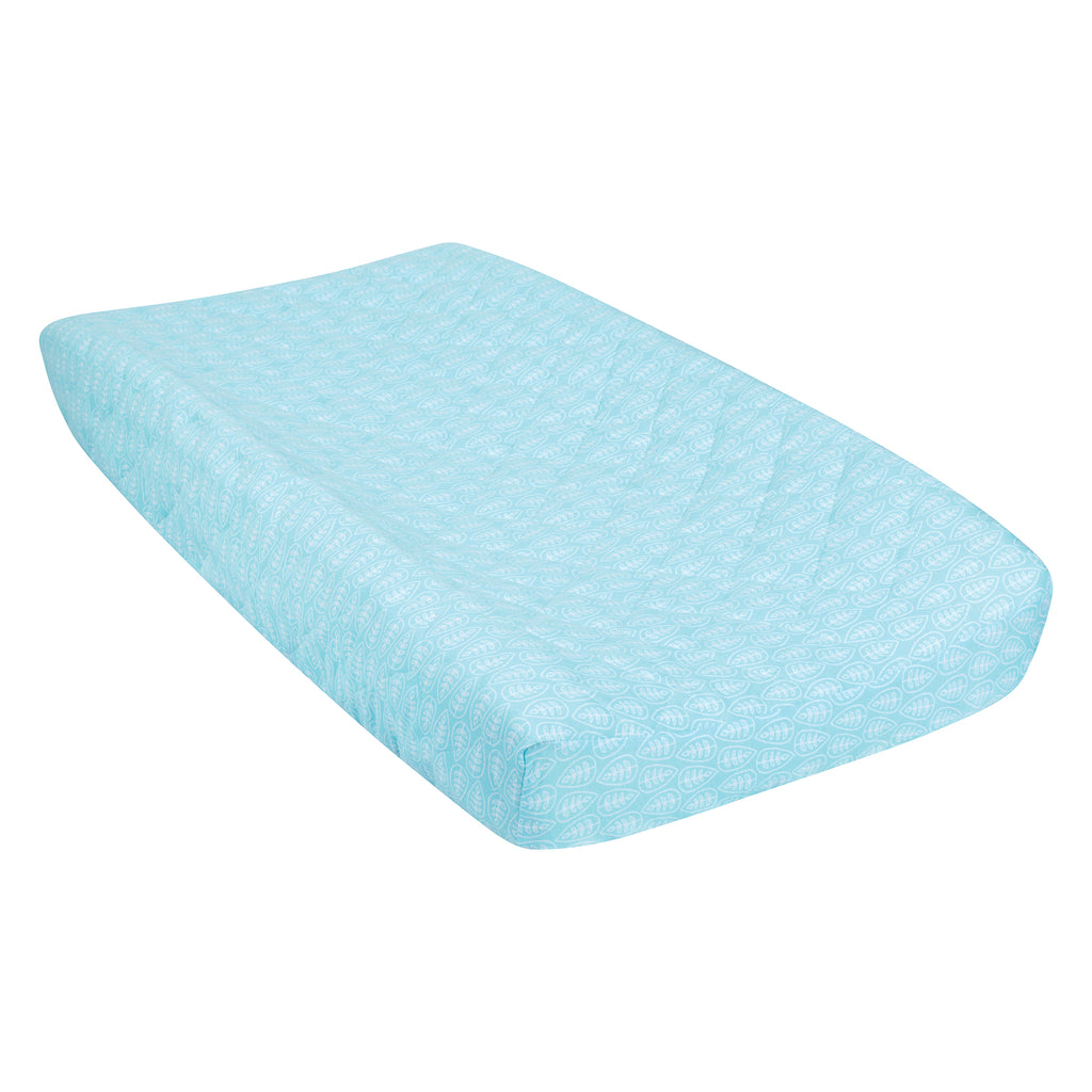 Leaves Quilted Jersey Changing Pad Cover