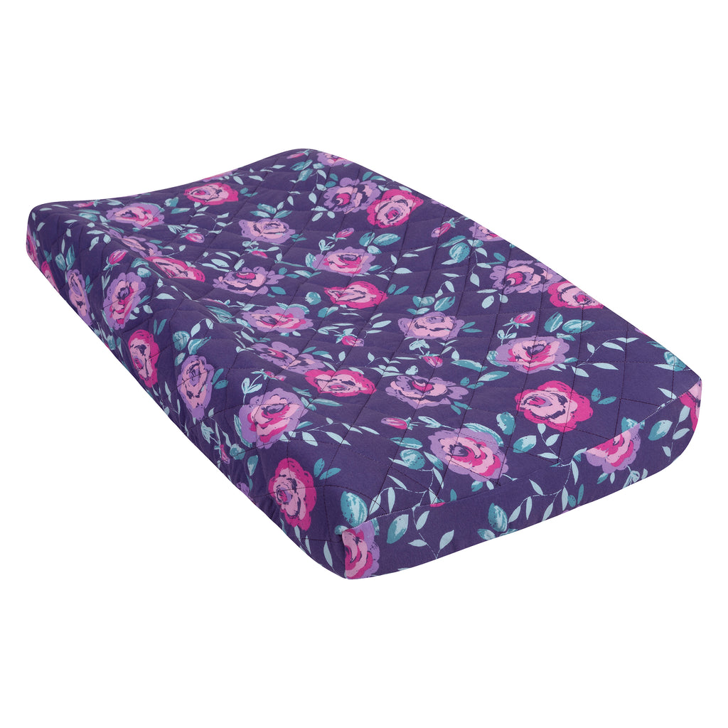 Flora Quilted Jersey Changing Pad Cover